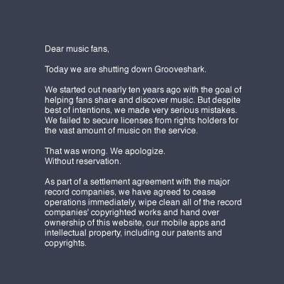 grooveshark-message