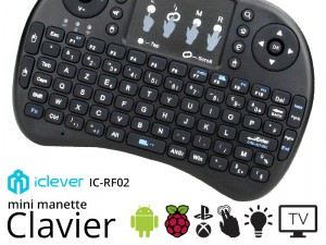 iClever IC-RF02 – le mini Clavier en forme de manette pour Console et Raspberry Pi dès 16€