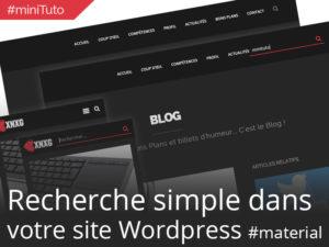 #miniTuto Ajouter un champ Recherche dans votre barre de menu WordPress #4