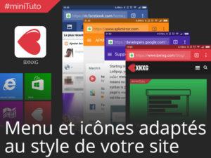 #miniTuto Icônes d'application et Menu aux couleurs de votre site sur Android et iOS #7