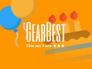 [14.03] Notre TOP 5 produits pour les 3 ans de Gearbest