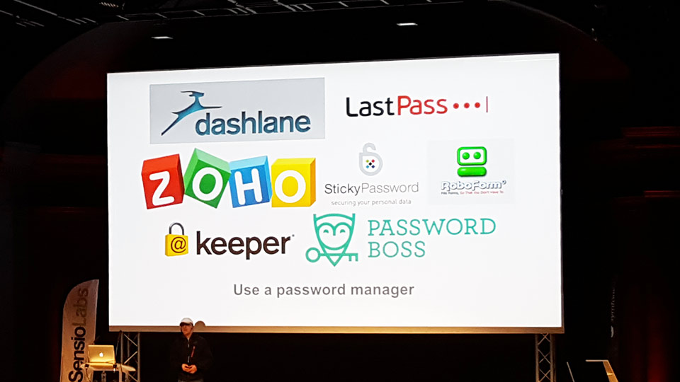 Talk sur la sécurité, les manager de password tel que Zoho, Keeper...