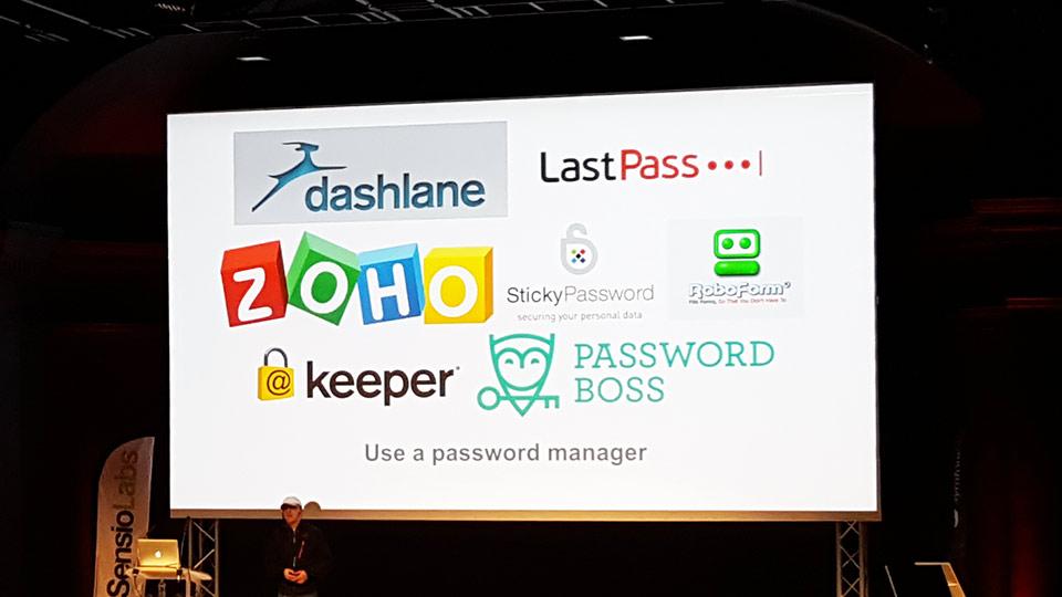 Talk sur la sécurité, les manager de password tel que Zoho, Keeper...