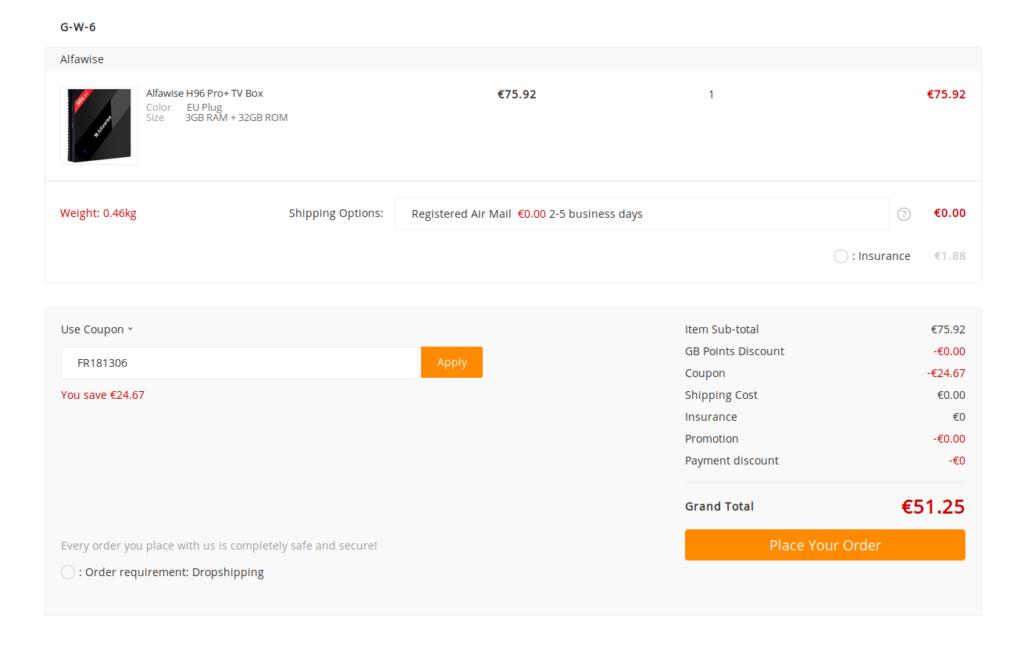 Alfawise H96 Pro+ - La meilleure box qualité/prix sous