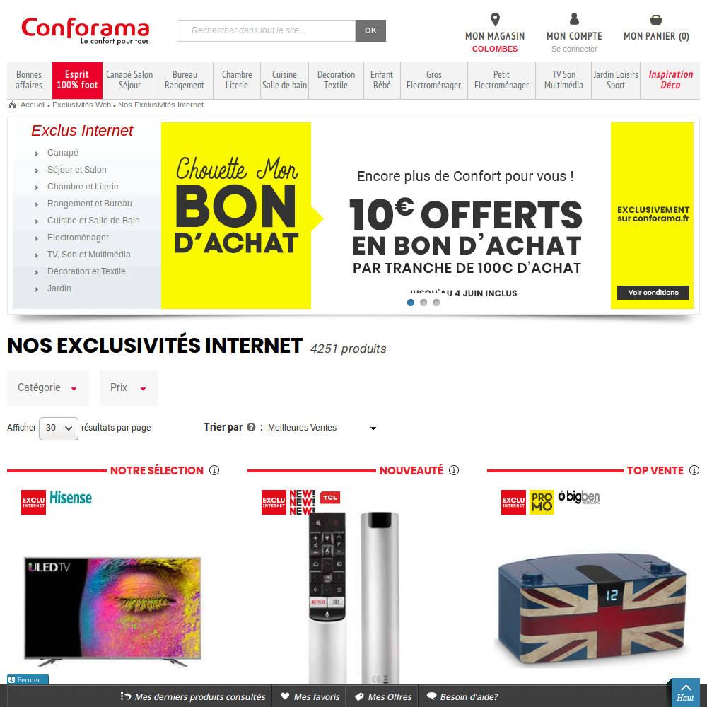 conforama-10-100achat - bxnxg - actualité, bons plans, tests