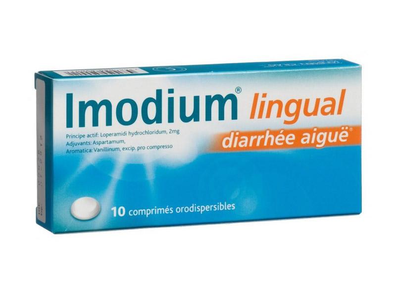 Imodium Lingual diarrhée tourista turista